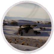 White Sands 1 Round Beach Towel