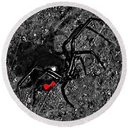 Wicked Widow - Selective Color Round Beach Towel