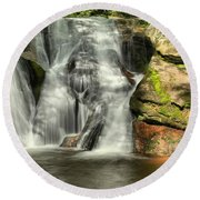 Widows Creek Falls Round Beach Towel