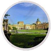 Wilanow Palace - Warsaw Poland Round Beach Towel