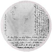 William Blake (1757-1827) Round Beach Towel