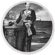 William II Of Germany Round Beach Towel