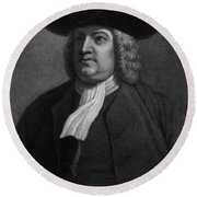 William Penn, Founder Of Pennsylvania Round Beach Towel