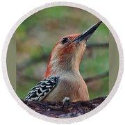 Woodpecker II Round Beach Towel