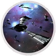 Xeelee Nightfighters, Inspired Round Beach Towel by Rhys Taylor
