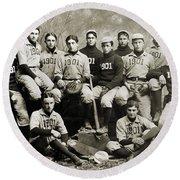 Yale Baseball Team, 1901 Round Beach Towel