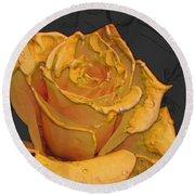 Yellow Rose Art Round Beach Towel