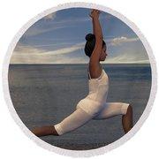 Yoga Round Beach Towel