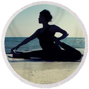 Yoga Round Beach Towel