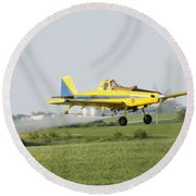 Airplane Round Beach Towel