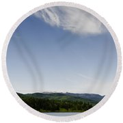 Big Sky View Round Beach Towel