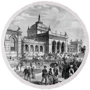 Centennial Fair, 1876 Round Beach Towel