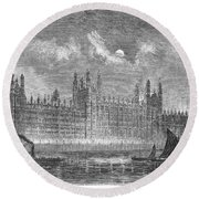 Great Britain: Parliament Round Beach Towel