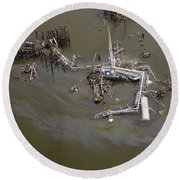 Hurricane Katrina Damage Round Beach Towel