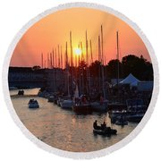 Mackinac Race Round Beach Towel