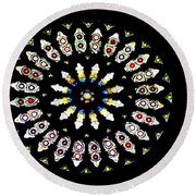Scenes From The City Of York  Round Beach Towel