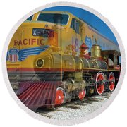 100 Years Of Union Pacific Railroading Round Beach Towel