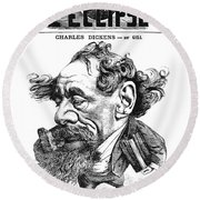 Charles Dickens (1812-1870) Round Beach Towel
