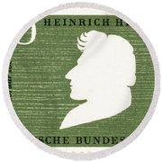 Heinrich Heine (1797-1856) Round Beach Towel