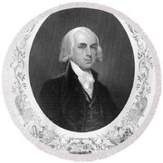 James Madison (1751-1836) Round Beach Towel