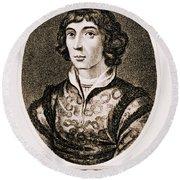 Nicolaus Copernicus, Polish Astronomer Round Beach Towel