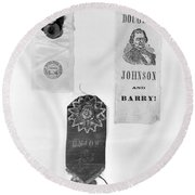 Presidential Campaign, 1860 Round Beach Towel