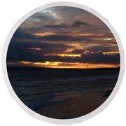 Bournemouth Sunset Round Beach Towel