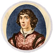 Nicolaus Copernicus, Polish Astronomer Round Beach Towel by Science Source