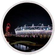 Olympic Park Round Beach Towel
