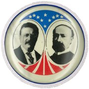 Presidential Campaign: 1904 Round Beach Towel