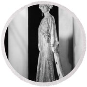 Silent Film Still: Woman Round Beach Towel
