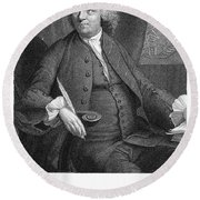 Benjamin Franklin (1706-1790) Round Beach Towel