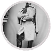 Civil War: Union Soldier Round Beach Towel