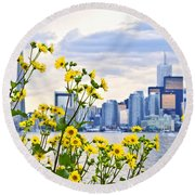 Toronto Skyline Round Beach Towel