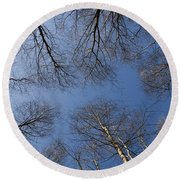 Trees In Epping Forest Round Beach Towel