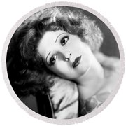 Clara Bow (1905-1965) Round Beach Towel