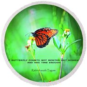 14- The Butterfly Round Beach Towel