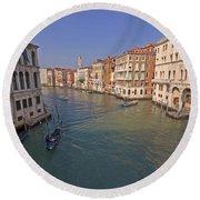 Venice - Italy Round Beach Towel by Joana Kruse