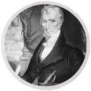 William Henry Harrison Round Beach Towel