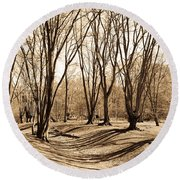 Ambresbury Banks Bronze Age Fortification Round Beach Towel