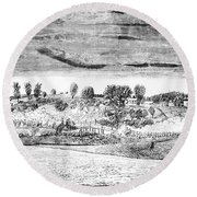 Battle Of Concord, 1775 Round Beach Towel