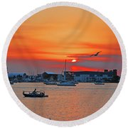 15- Old Port Cove Round Beach Towel