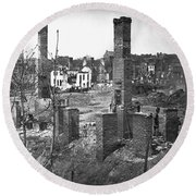 Civil War: Richmond, 1865 Round Beach Towel