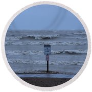Hurricane Sandy Round Beach Towel