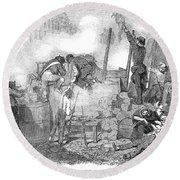 France: Revolution Of 1848 Round Beach Towel