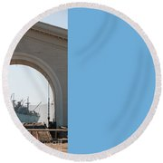 Legion Of Honor Museum San Francisco Round Beach Towel