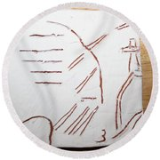 Sign - Tile Round Beach Towel by Gloria Ssali