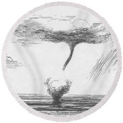 Waterspout Round Beach Towel
