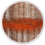 Color Rust Round Beach Towel