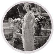 Silent Film Still: Woman Round Beach Towel